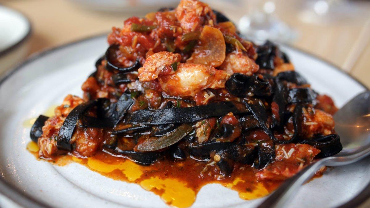 Tahiti Nui Squid Ink Seafood Pasta
