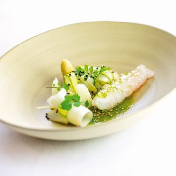 Le Ciel's Norway Lobster with Asparagus